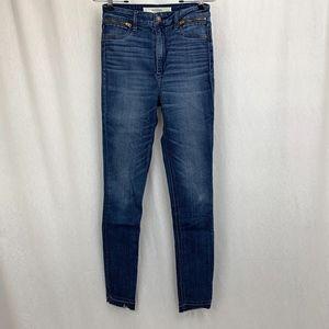 Abercrombie & Fitch Skinny Raw Hem Jeans Size 26